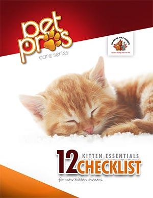12 Kitten Essential Checklist