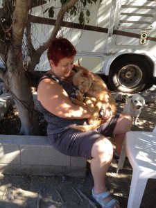 This is Judy and Rina at the Hope Sanctuary snuggling
